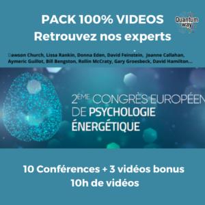 Pack replay – 2ème Congrès de psychologie énergétique – Paris, Mai 2018