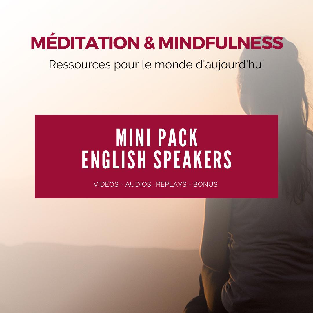 """Meditation & Mindfulness"" - Special PACK Français & English (6 conferences / talks)"